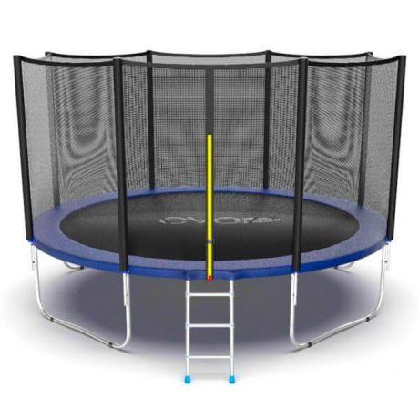 Батут с внешней сеткой и лестницей Evo Jump External 12ft Blue