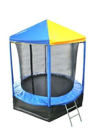Батут Optifit Like Blue 8ft  2,44 м с сине-желтой крышей