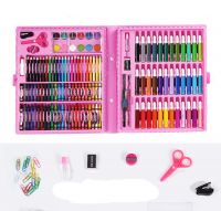 Набор для рисования в чемодане Art Set 150 предметов (цвет розовый)_2