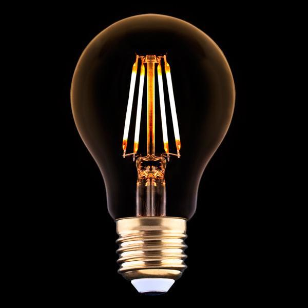 Лампа светодиодная филаментная E27 4W 2200K прозрачная 9794