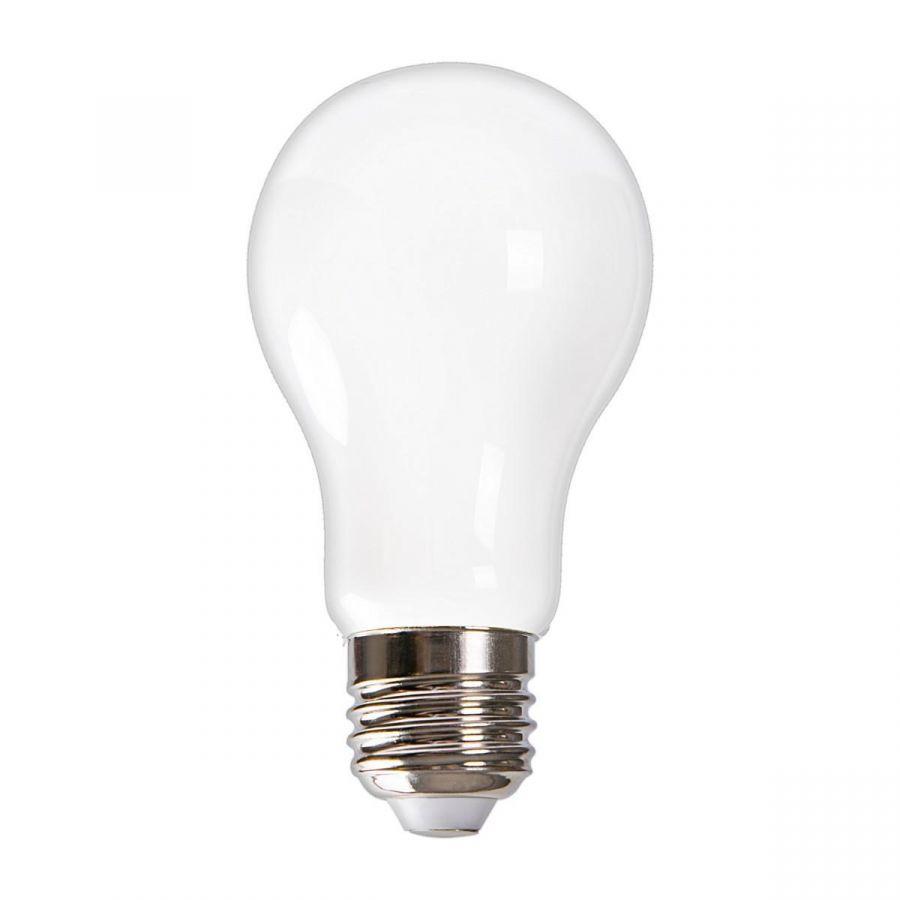 Лампа светодиодная (UL-00004841) E27 9W 3000K матовая LED-A60-9W/3000K/E27/FR GLH01WH
