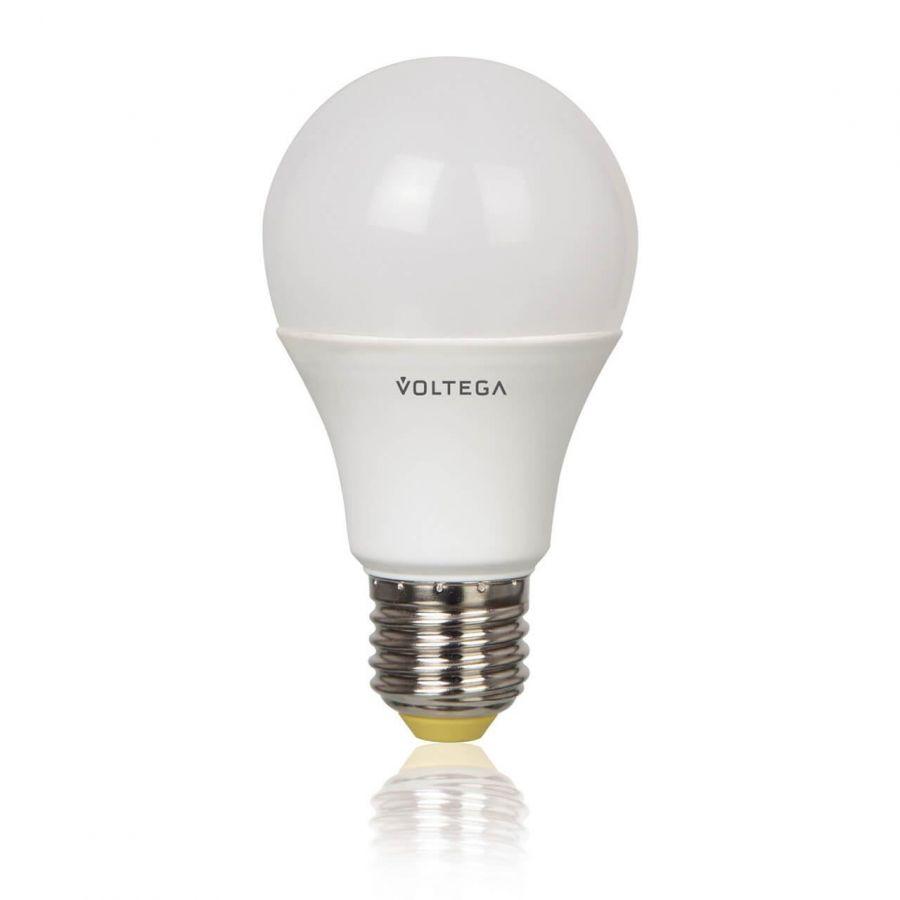 Лампа светодиодная Voltega E27 8.5W 2800К груша матовая VG4-A2E27warm8W 5753