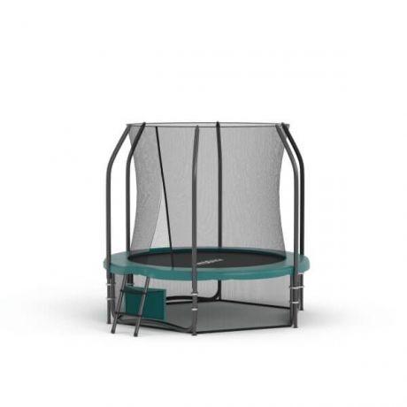 Батут с защитной сеткой и лестницей Proxima Premium 6 FT