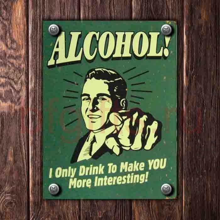 Табличка из металла Alcohol!