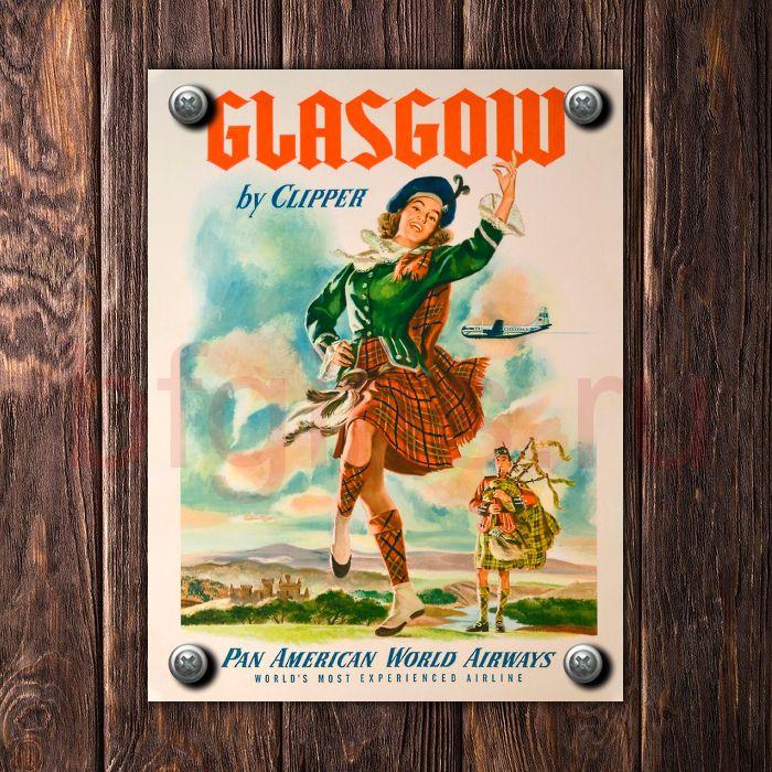 Шотландская табличка из металла