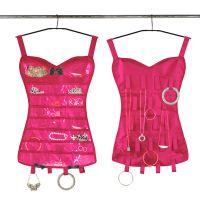 Органайзер для бижутерии в виде корсета (цвет розовый)