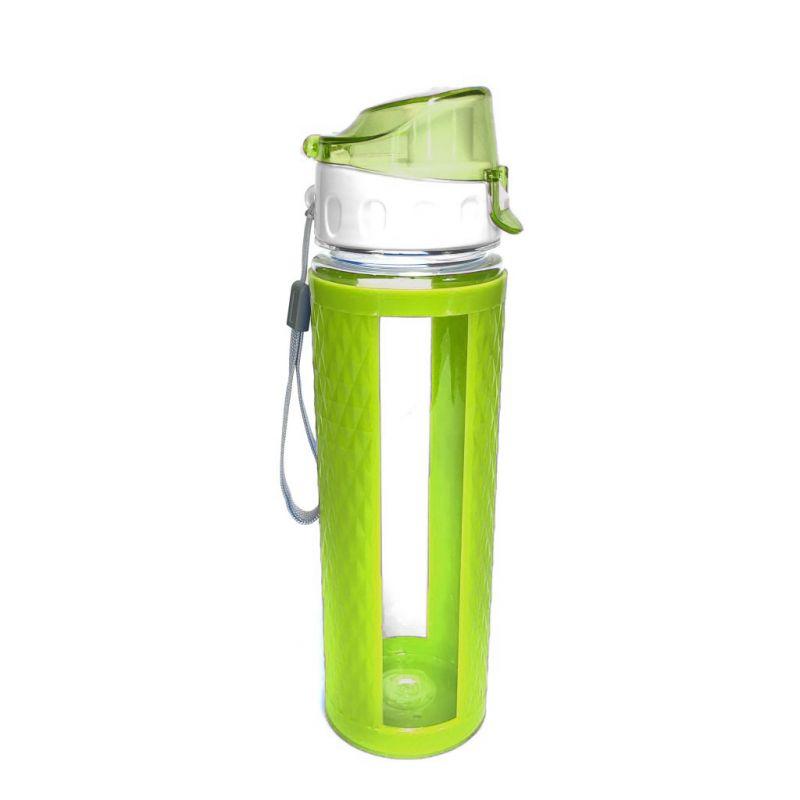 Бутылка для воды с вакуумным клапаном (цвет зеленый)