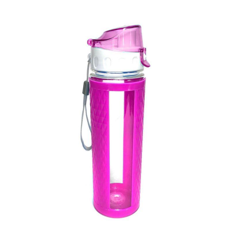 Бутылка для воды с вакуумным клапаном (цвет розовый)