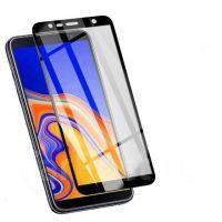 Защитное стекло на Samsung J4/J6 plus с рамкой(черное)