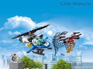 Конструктор Lari Город Воздушная полиция: погоня дронов 11207 (60207) 210 дет