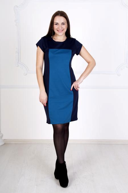"""Платье """"Валерия"""" синее, милано"""