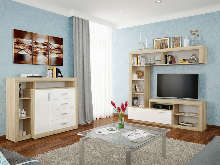 Комод Берген КМ-214 с 4-мя ящиками Производитель: Фабрика мебели Виват