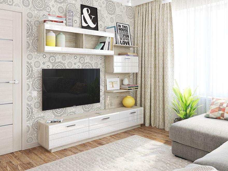 Глейс-01 Белый глянец Производитель: Фабрика мебели Виват