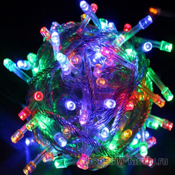 Гирлянда электрическая 8 режимов, 100 ламп