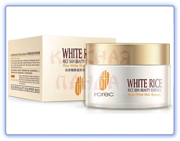 Крем для лица с белым рисом Rorec - омолаживающий эффект