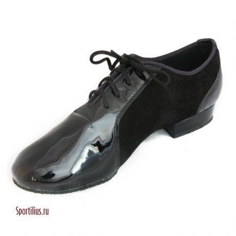 Туфли для танцев нубук/лак