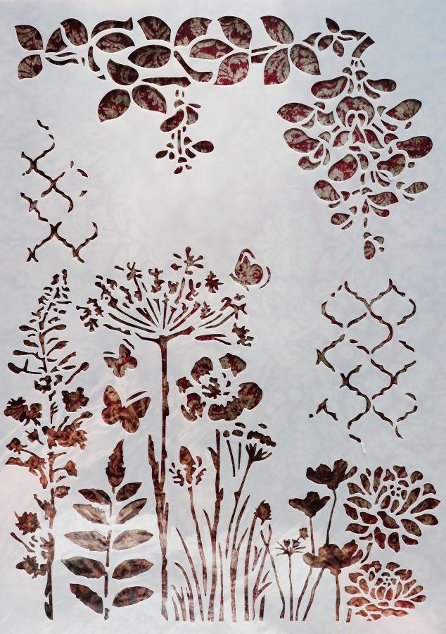 Трафарет для творчества, Полевые цветы, 29*21 см