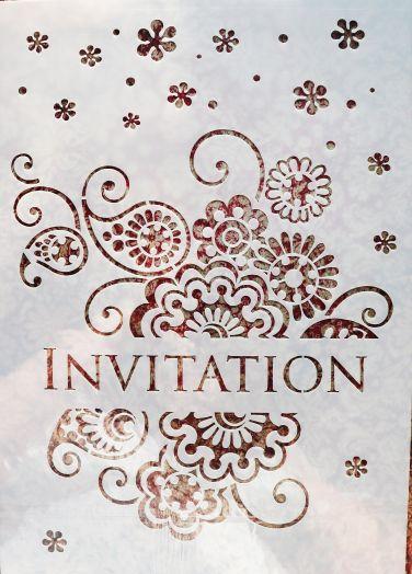 Трафарет для творчества, Invitation, 29*21 см