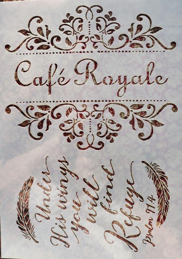 Трафарет для творчества, Cafe royale, 29*21 см