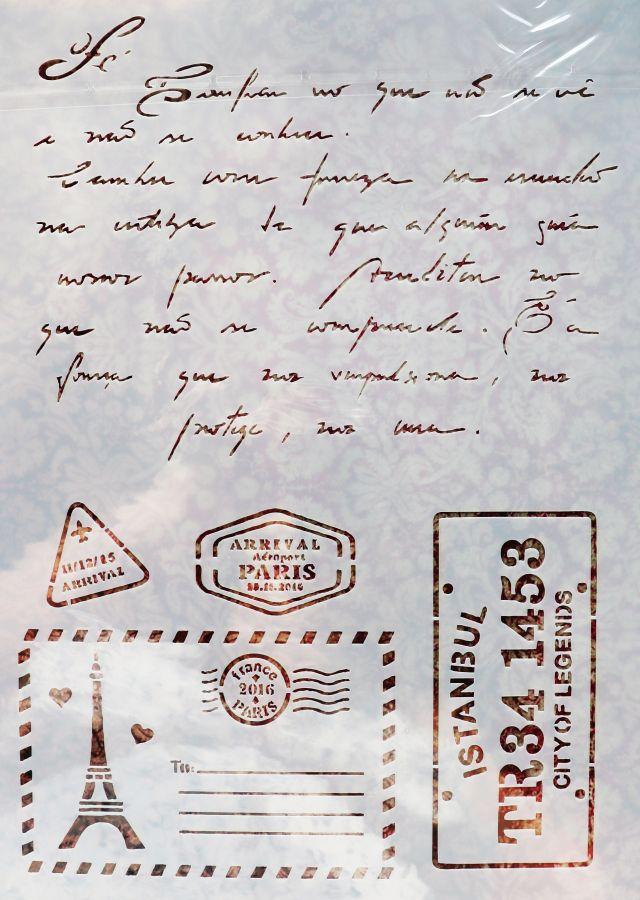 Трафарет для творчества, Парижское письмо, 29*21 см