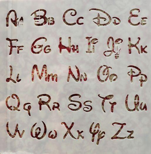 Трафарет для творчества, Алфавит, 13*13 см