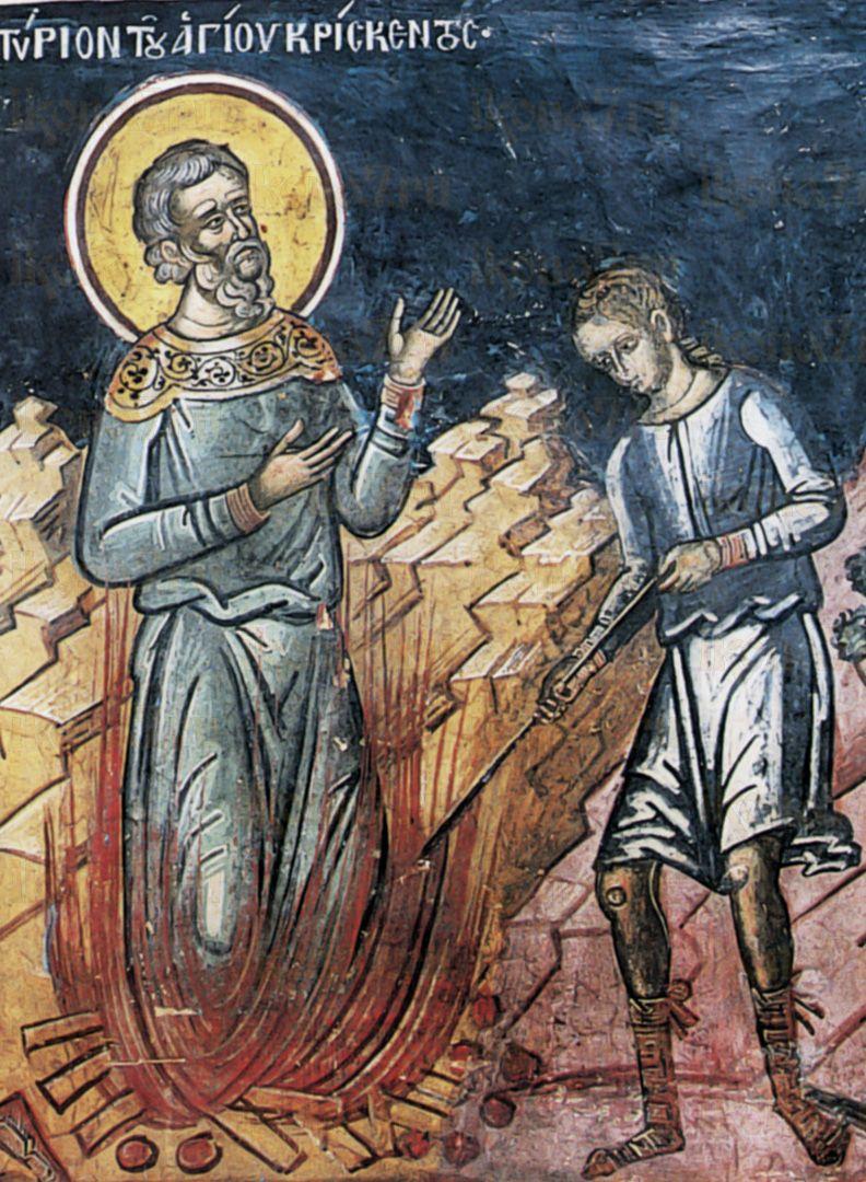 Икона Крискент Мирликийский мученик
