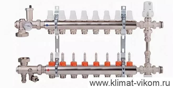 """Коллектор с расходомерами и смесительным узлом ICMA  1""""/3/4"""" (7)"""