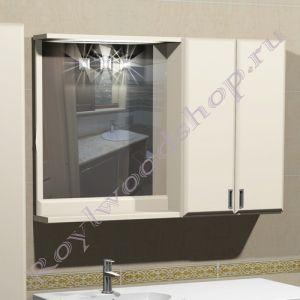 """Зеркало-шкаф для ванной  """"Глосси-С бюджет"""