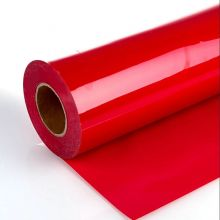 Пленка термотрансферная ПУ, красная 60 см х 1 метр