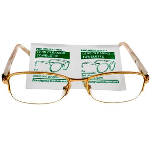 Влажные одноразовые антибактериальные салфетки для оптики, 10 шт