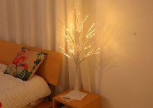 Интерьерный светильник ночник дерево 90 см