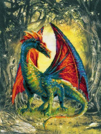 Набор для вышивания крестом Лесной дракон РТ 0057 фирма Риолис