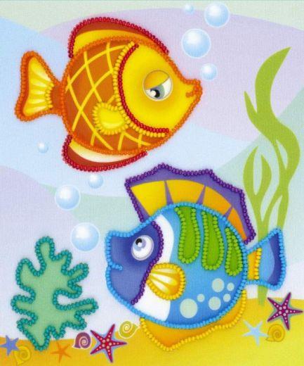 Набор для вышивания крестом Морские рыбки РТ 0062 фирма Риолис