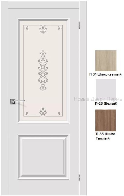 """""""Скинни-13 """" ДО со стеклом межкомнатная дверь с ПВХ покрытием"""