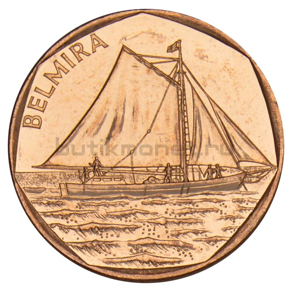 5 эскудо 1994 Кабо-Верде Belmira (Корабли)