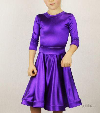 """Платье для танцев фиолетовое """"Анна"""""""