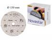 Премиальный шлифовальный абразив на прочной пленочной основе Mirka Novastar 150 мм 121 отверстий Р 400 в комплекте 100 шт FG6CH09941
