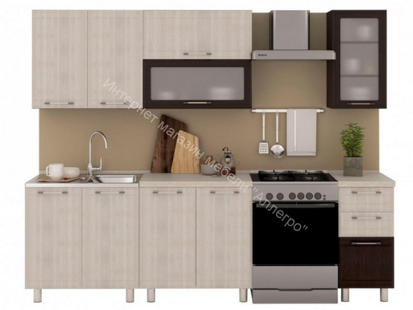 Кухня Терра со столешницей 2,0 м №2 (80/40)