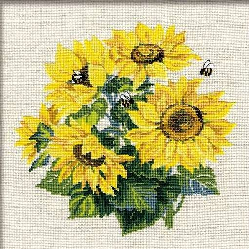 Набор для вышивания крестом Подсолнухи №776 фирма Риолис