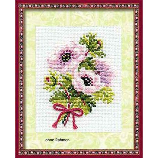 Набор для вышивания крестом Анемоны №790 фирма Риолис