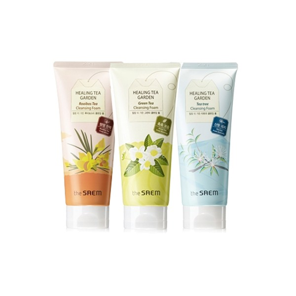 Пенка для умывания The Saem Healing Tea Garden Cleansing Foam