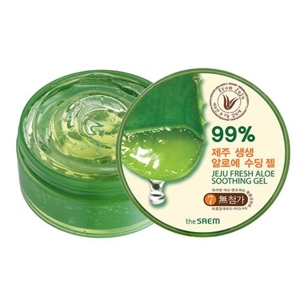Средство с алоэ The Saem Jeju Fresh Aloe Soothing Gel