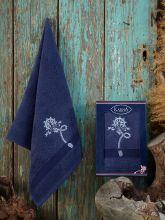 Полотенце махровое ROTA 50*90 (синее) Арт.3432-4