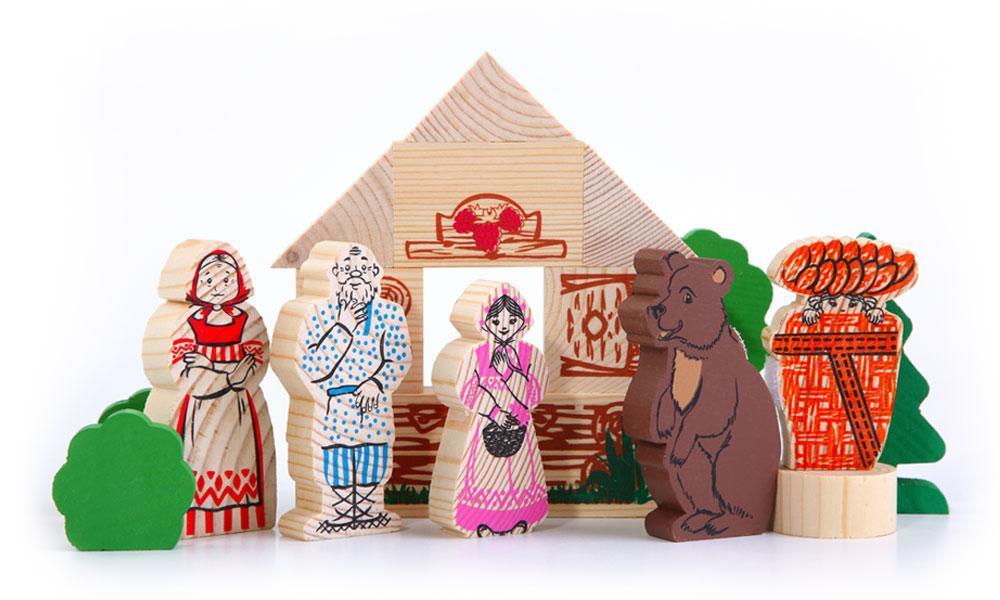 """Конструктор """"Сказки. Маша и медведь"""", 17 деталей"""