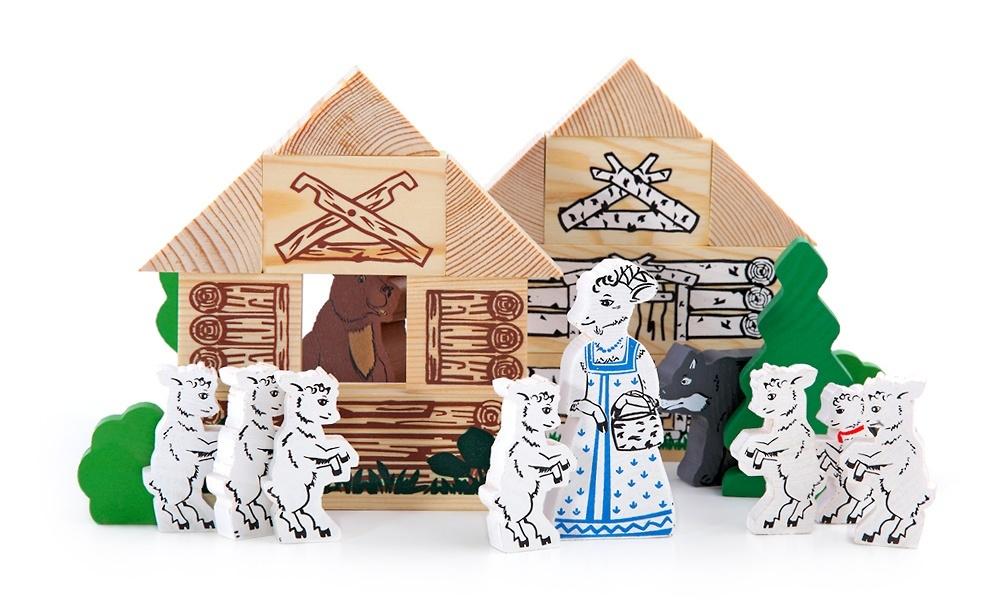 Конструктор «Сказки: волк и семеро козлят», 28 элементов