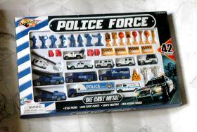 Большой НАБОР Полицейская ТЕХНИКА и сооружения 42 ШТ