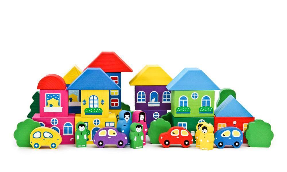 Конструктор «Цветной городок» большой, 41 элемент