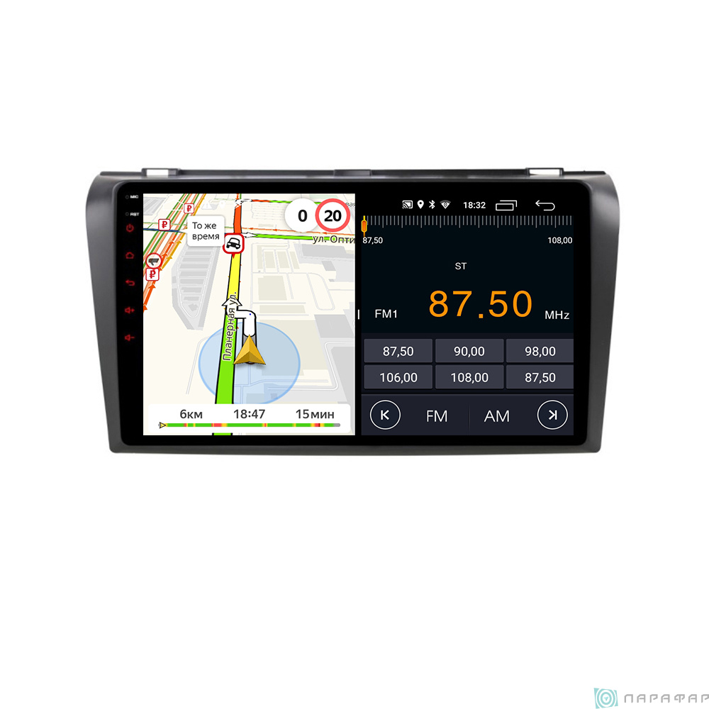 Parafar PF161LTX для Mazda 3 2004-2009 на Android 8.1.0 Штатная магнитола