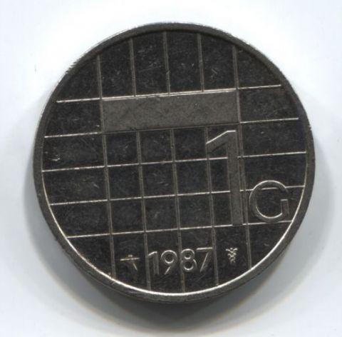1 гульден 1987 года Нидерланды