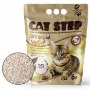 CAT STEP Tofu Original  Растительный комкующийся наполнитель, 6л